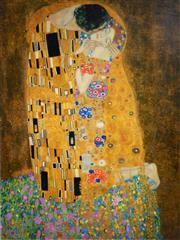 Sale 8545A - Lot 5069 - Gustav Klimt (1862 - 1918) - The Kiss 80 x 59cm (frame size: 98 x 78cm)