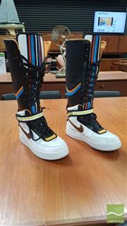 Sale 8409 - Lot 1038 - Nike Air Force 1 Boots by Riccardo Tisci