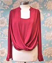 Sale 8577 - Lot 164 - A BCBG MAXAZRIA crossover blouse, size L, Condition: Very Good