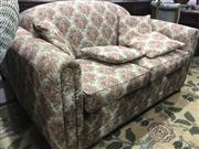 Sale 8745 - Lot 1067 - Floral Upholstered Two Seater Sofa