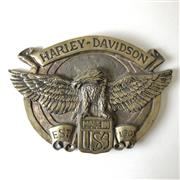 Sale 8795K - Lot 84 - A heavy brass Harley-Davidson sign