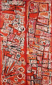 Sale 8830 - Lot 561 - Naata Nungurrayi (1932 - ) (2 works) - Marrapinti (diptych) 152 x 46.5cm, each (stretched and ready to hang)