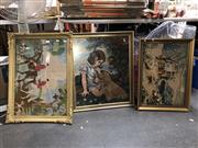 Sale 8853 - Lot 2091 - Collection of 3 Framed Tapestries