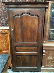 Sale 8882 - Lot 1031 - 18th/ 19th Century French Oak Armoire, with single shaped panel door (key in office)