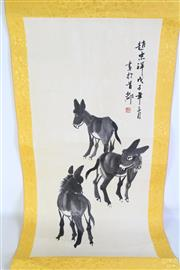 Sale 8913C - Lot 74 - Donkey themed Chinese scroll