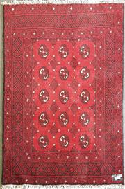 Sale 8996 - Lot 1059 - Hand Knotted Pure Wool Afghan Turkoman (150 x 100cm)