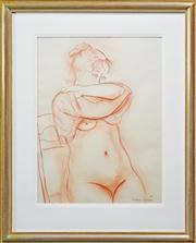 Sale 8203A - Lot 56 - Constance Stokes (1906 - 1991) - Seated Nude, 1981 73.5 x 55cm