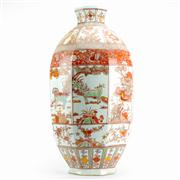 Sale 8258 - Lot 72 - Wanli Style Red & Green Octagonal Vase