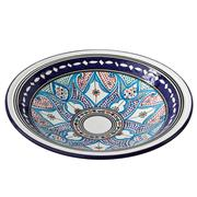 Sale 8438K - Lot 128 - Two Matching Traditional Moroccan Serving Bowls, Ceramic Bowl, Hand Painted With Lead Free Paint., Made in Morocco from ceramic and ...