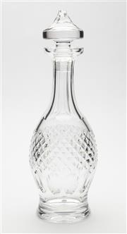 Sale 8620A - Lot 33 - An excellent quality Irish Waterford hand cut lead crystal decanter, H 33cm.