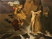 Sale 8665A - Lot 5210 - Artist Unknown (C20th) - Ruggiero Freeing Angelica (after Jean August Dominique Ingres) 75 x 101cm