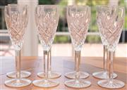 Sale 8908H - Lot 50 - Eight Waterford champagne glasses, Height 22cm