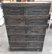 Sale 8959 - Lot 1020 - Industrial 10 Drawer Chest in Black (H:139 x W:100 x D:45cm)