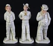 Sale 8989 - Lot 86 - Group of three Royal Worcester figures, H:18cm