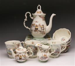 Sale 9098 - Lot 387 - Royal Doulton Brambly Hedge teawares (small chip to 1 cup) together with a set of four Royal Albert Beatrix potters dishes