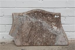 Sale 9102 - Lot 1314 - Serpentine front marble table top - damaged corner (w:60 x d:36cm)