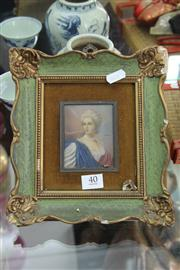 Sale 8261 - Lot 40 - Framed Miniature (AF)