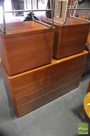 Sale 8326 - Lot 1332 - Modern 4 Drawer Chest And Two Matching Bedsides