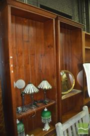 Sale 8331 - Lot 1579 - Pair Of Large Open Bookcase