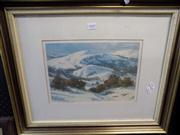 Sale 8437 - Lot 2042 - Ramon Ward Thompson - Winter Mountains, limited edition print (AF - minor foxing), 21.5 x 31.5cm, facsimile signature in print