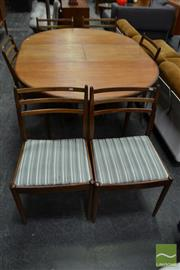 Sale 8511 - Lot 1018 - G-Plan Teak Seven Piece Dining Setting incl. Table and Six Chairs