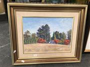 Sale 8720 - Lot 2079 - Reginald G Rowe - Autumn at Baronga oil on board, 29.5 x 39.5cm, signed lower left