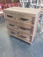 Sale 8951 - Lot 1043 - Industrial Timber Cabinet with Two Drawers Above Two Doors (H:85.5 x W:80 x D:45cm)