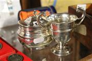 Sale 8261 - Lot 14 - English Hallmarked Sterling Silver Trophy Cup & Hinged Pot (Weight - 213g)