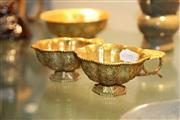 Sale 8273 - Lot 99 - Pair of Chinese Gilt Wine Cups