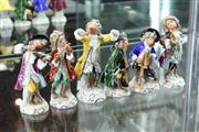 Sale 8288 - Lot 35 - Meissen Monkey Band(af)