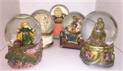 Sale 8338A - Lot 158 - A group of snow globes, including wizards and angels