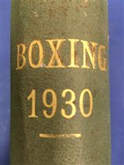 Sale 8450S - Lot 743 - Boxing 1929-1935 - 3 large bound volumes of Boxing (UK) 1929, 1930 & 1935