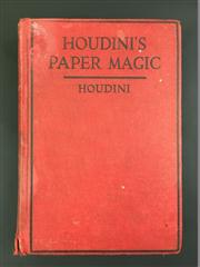 Sale 8539M - Lot 12 - Houdini, 'Houdini's Paper Magic: The Whole Art of Performing with Paper, including Paper Tearing, Paper Folding and Paper Puzzles'..