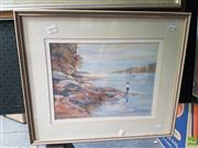 Sale 8573 - Lot 2034 - Angela Van Wyk, On the Harbour, watercolour and gouache, 43 x 51cm (frame), signed lower left