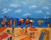 Sale 8665A - Lot 5119 - Stanley Perl (1942 - ) - A Day at the Beach 40.5 x 50.5cm