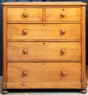 Sale 8994H - Lot 67 - Victorian chest of five drawers in Huon pine. H: 122 x W: 118 x D: 51cm