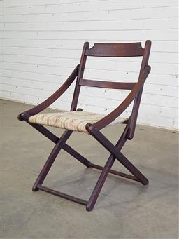 Sale 9151 - Lot 1233 - Early folding timber childs steamer chair (h65 x w45 x d50cm)