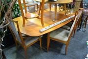Sale 8054 - Lot 1076 - Vintage 7 Piece Dining Suite inc Extension Table and 6 Chairs