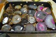 Sale 8087 - Lot 1055 - Tray of Brown & Pink Polished Agate