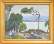 Sale 8266 - Lot 592 - Marcus King (1891 - 1984) - Seascape, Golden Bay, Takaka 29.5 x 38cm