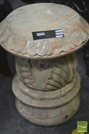 Sale 8262 - Lot 1001 - Carved Marble Stool