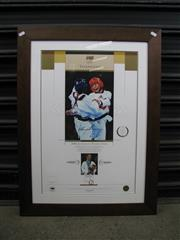 Sale 8582 - Lot 2067 - Signed Lauren Burns - a limited edition 8/100, featuring Taekwondo gold medallist from the Sydney Games, framed with COA