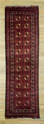 Sale 8601C - Lot 97 - Afghan Qunduzi Runner 300x86
