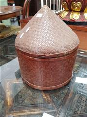 Sale 8700 - Lot 1035 - Woven Rice Carrier