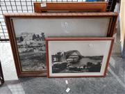 Sale 8699 - Lot 2081 - 2 Photographic Prints & Framed Postcards