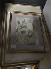 Sale 8759 - Lot 2129 - Set of 3 Framed Musical Themed Works, Various Sizes