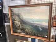 Sale 8845 - Lot 2072 - Woollston Thomas - Mount Bulli NSW c1900 watercolour, 66 x 86cm (frame) signed