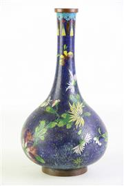 Sale 8897 - Lot 39 - A Large Chinese Cloisonne Vase with Floral Decoration (H26cm)