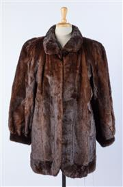 Sale 9003F - Lot 49 - A Levy Furs Chocolate Brown Mink Jacket, size M