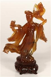 Sale 7968 - Lot 3 - Chinese Agate Figure of a Maiden